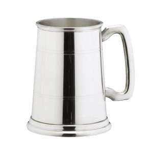 lined pewter tankard