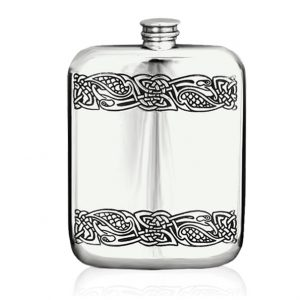 pewter celtic hip flask 6oz